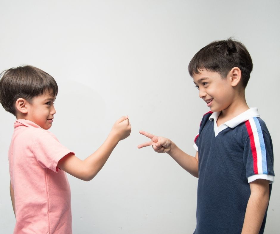 Rock Paper Scissors is a fun game to play with kids waiting in line. A fun way to entertain kids while waiting at Disney or Amusement park lines.