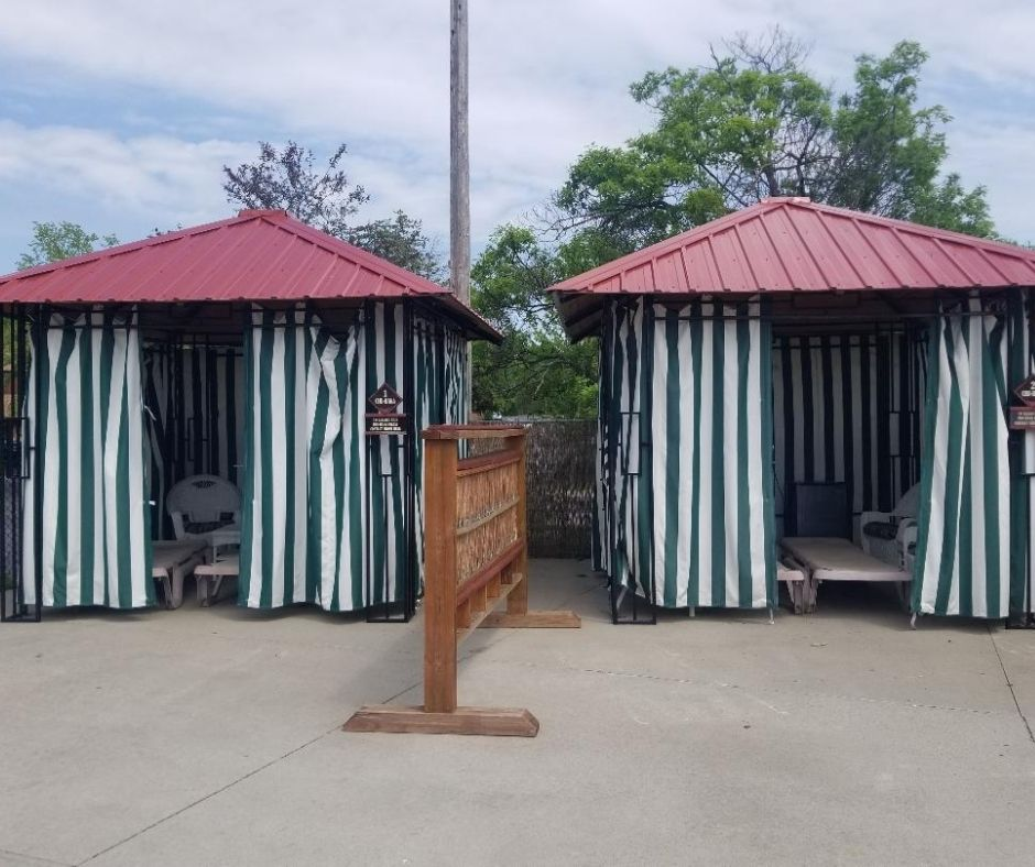 Rent Cabanas at the Outdoor pool at Chula Vista Resort.