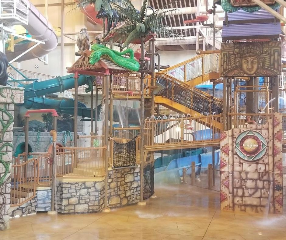 Indoor Water Park Climber at Chula Vista Resort.
