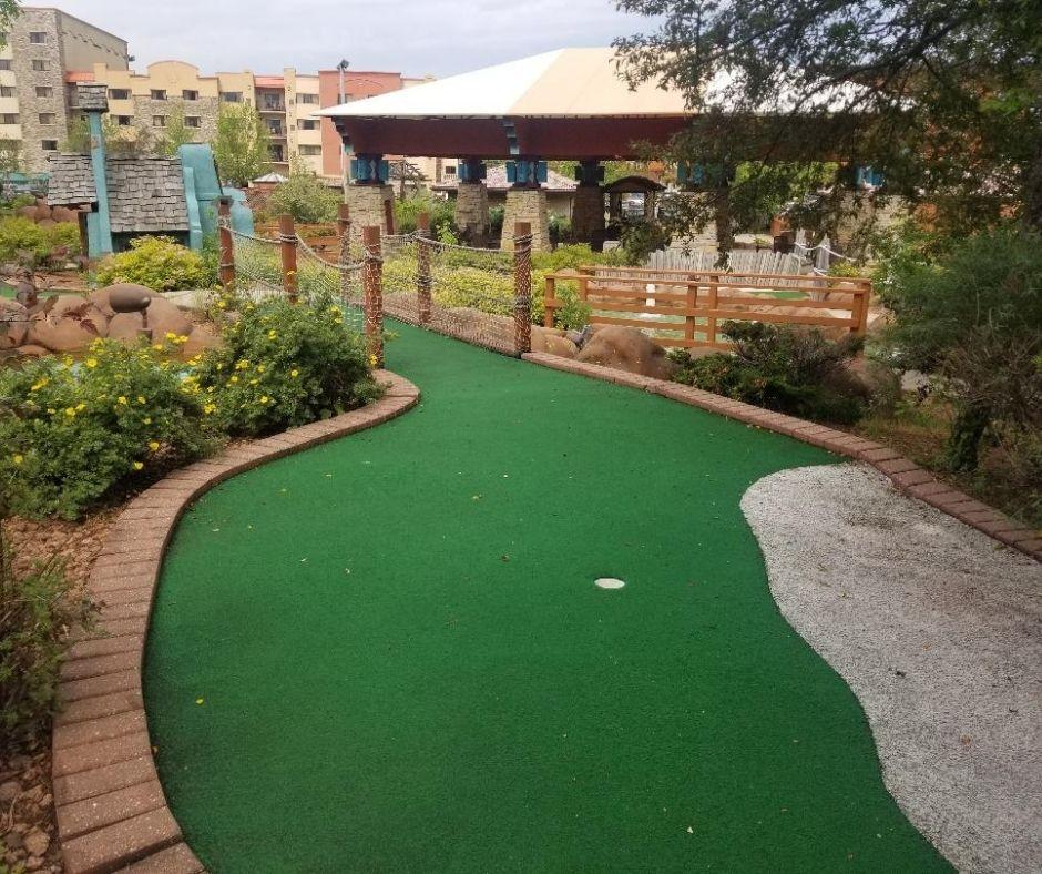 Fun Miniature Golf Course at Chula Vista Resort in Wisconsin Dells.