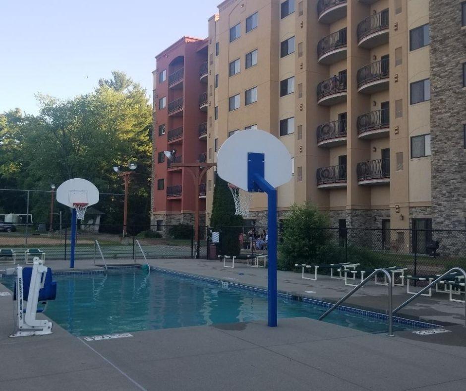 Outdoor Sports Pool at Chula Vista Resort in Wisconsin Dells.
