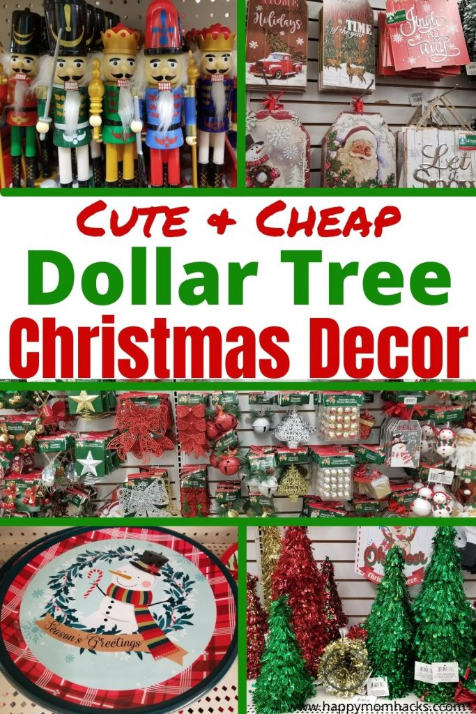Cute DIY Dollar Tree Christmas Decoration Ideas. Easy décor to decorate your whole house while saving money by shopping at Dollar Tree. Plus stocking stuffer and Hostess gift ideas friends will love. You'll be amazed what you can get with $1.