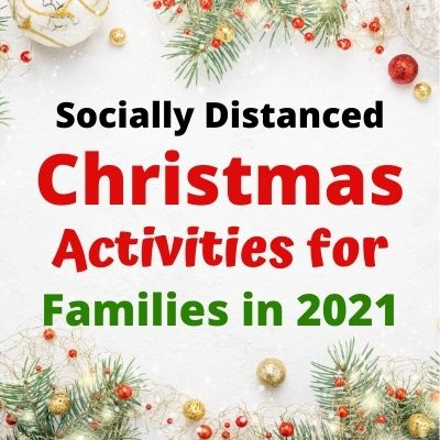 24 Christmas Activities for Families while Socially Distancing. Fun Holiday ideas for kids to celebrate even when you can't be with friends & family. Holiday traditions like baking cookies, decorating for Christmas, family game nights, volunteering and more. Plus fun Ugly Sweater Zoom Virtual Parties. A complete guide to a fun Christmas at Home.