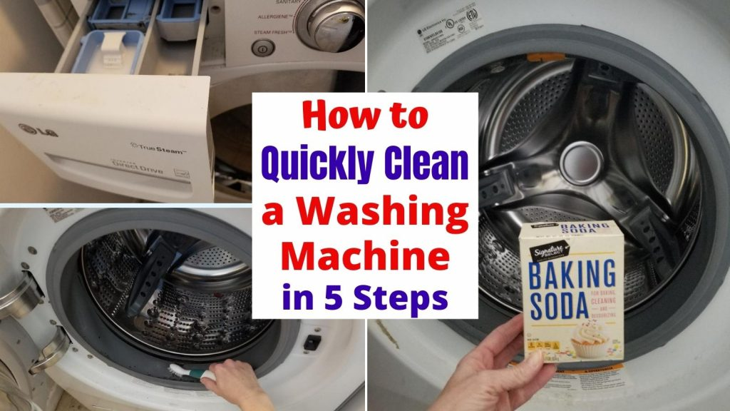 Easiest Way to Clean a Front Loading Washing Machine in 5 easy steps.