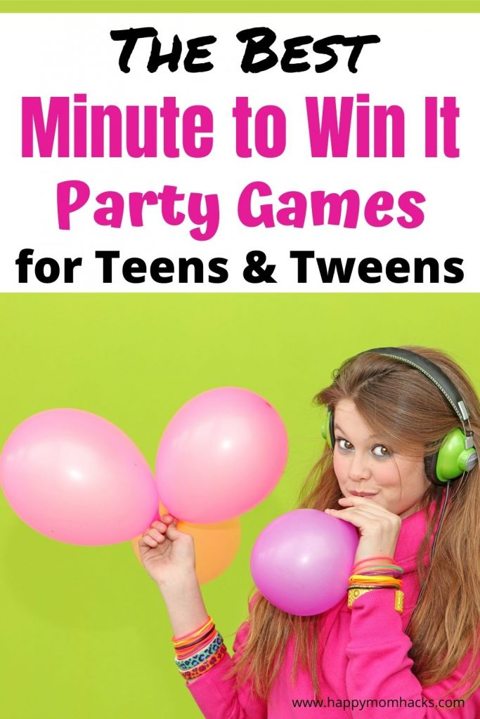 Get Teens to Play Games with fun Minute to Win It Games & Challenges for Teens & Tweens. Quick games they'll actually want to play at parties, holiday parties or family game nights. Get your tough to please teen having fun with your whole group.