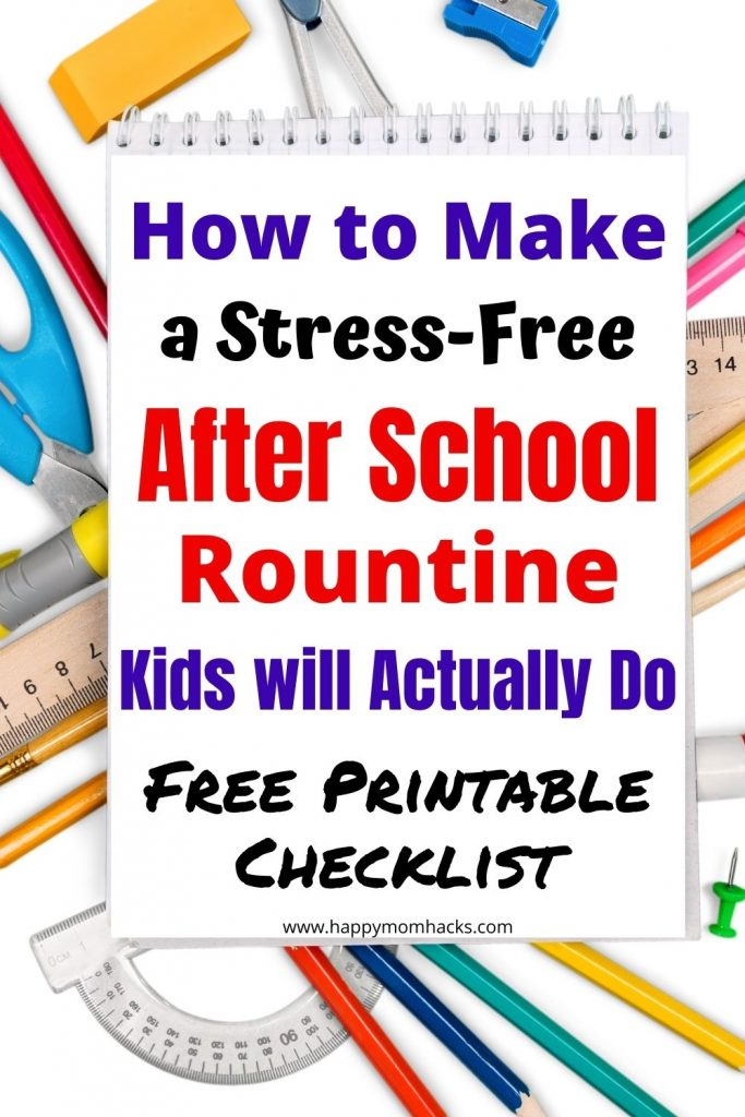 How to make a simple After School Routine for Kids. Stop having chaotic afternoons with a daily after school schedule your kids can follow. It will help get you organized and finding more time to just enjoy your kids. Use the Free printable After School Checklist to help you stay on track. Just print it out and get started today!