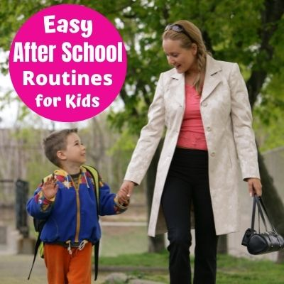 How to Make a stress-free after school routine and schedule your kids can follow. Make after school time less hectic with a daily routine that will work for your family.