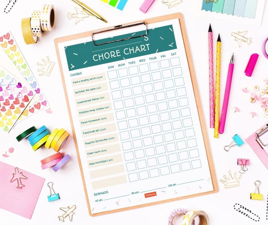 Add kids chores into your after school routine to teach your kids responsibility.