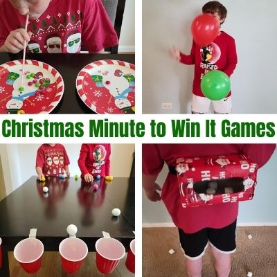 Hilarious Minute to Win It Games for Christmas Kids and Adults will Love. The ultimate list of family Christmas Games & how to play. Everything you need for an unforgettable Holiday Party.