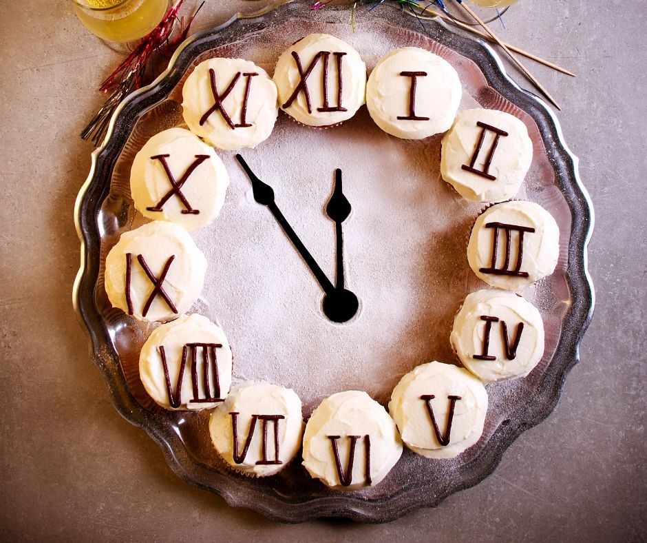 Countdown Clock Cupcakes. A fun New Year's Eve party dessert.
