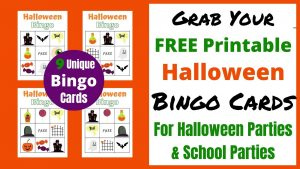 Halloween Bingo Cards are the Perfect Halloween Party Game for home or school parties. Entertain the kids with these free printable Holiday Bingo Cards with 9 different card options. Just download the PDF and your ready to play!