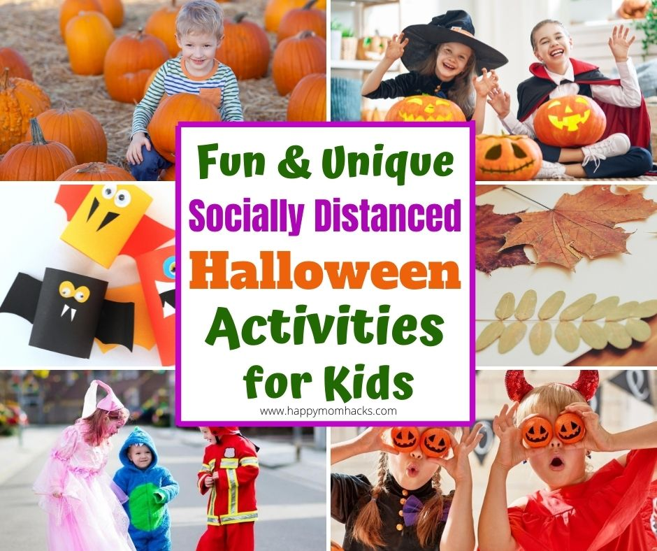 Best Things to Do with Kids in the Fall & Halloween. Fun Halloween activities kids will love doing at home or staying socially distanced and safe.