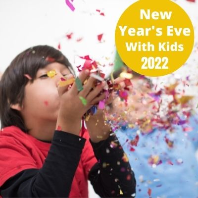 How to Celebrate New Year's Eve with Kids at home with fun activities the whole family will love.