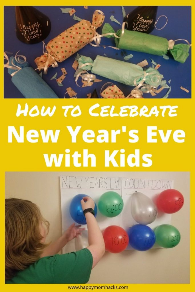 Fun New Year's Eve Activities & Ideas for Family-friendly parties. Easy DIY balloon countdown, party poppers, countdown bags and party games. All the game and activities you need to keep kids and adults entertained. Make it the best New Year's Eve party ever!!