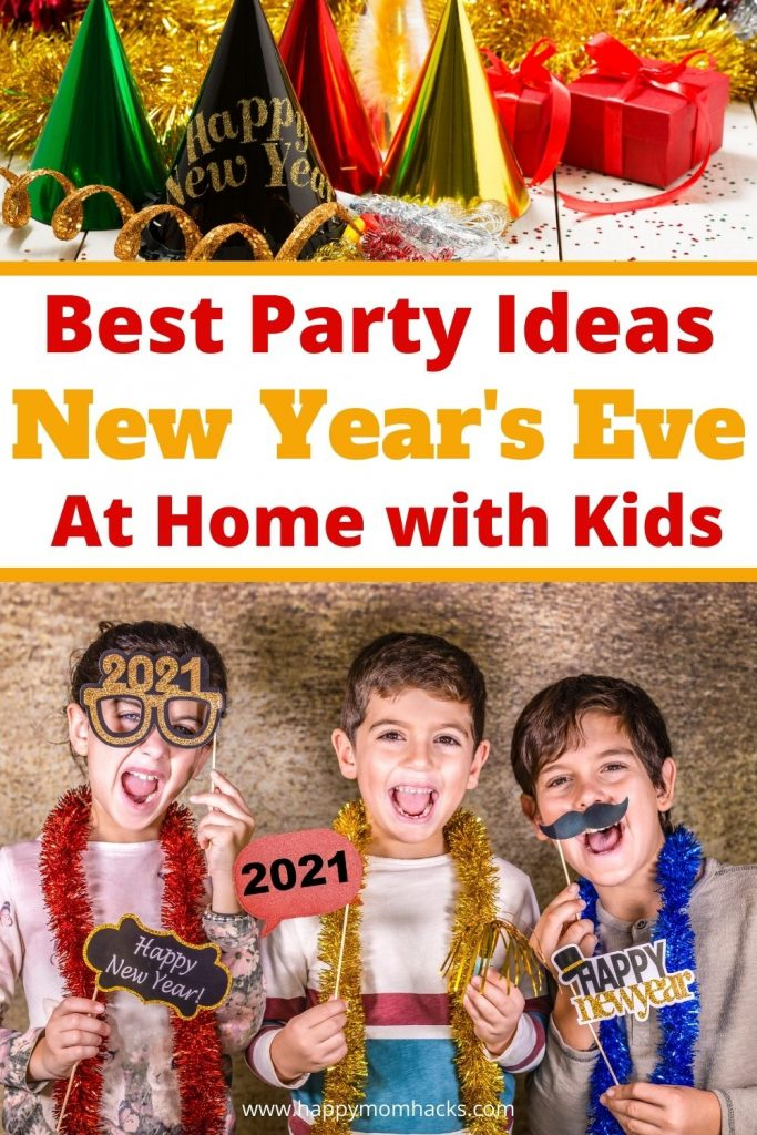 How to Celebrate New Year's Eve Parties at Home with Kids. Fun family-friendly New Year's activities everyone will enjoy. Create DIY balloon drops, party poppers and photo booths. Plus fun games kids will love playing all night. Learn how to host the best New Year's Eve Party at home.