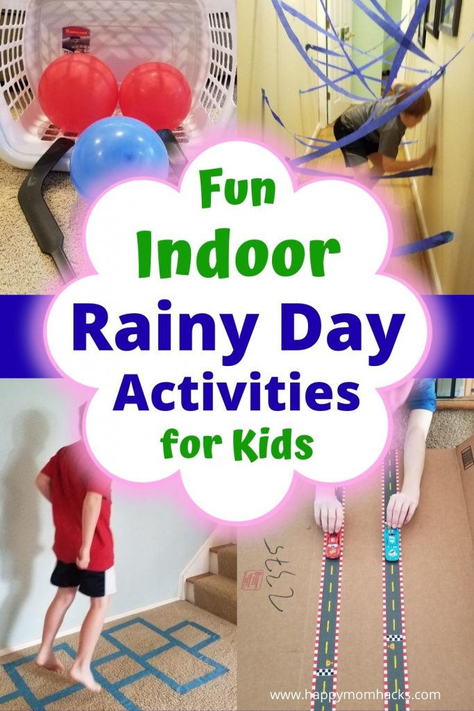 Fun things to do on a rainy day at home with kids. DIY indoor games and kids activities to keep them busy and not driving you crazy all day. Plus fun Family Game Night Ideas to play with your kids. Grab these kids activity ideas and be ready for the next rainy day.