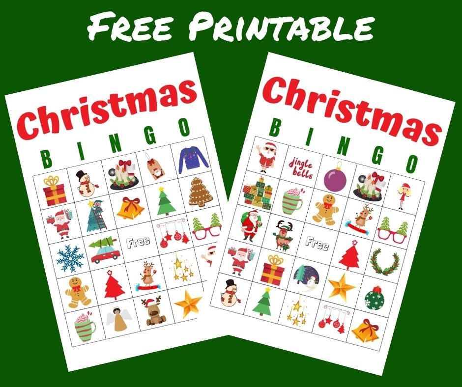 Free Printable Christmas Cards for Kids a fun Party Game for Holiday Parties & School Parties. Just print it out and play!
