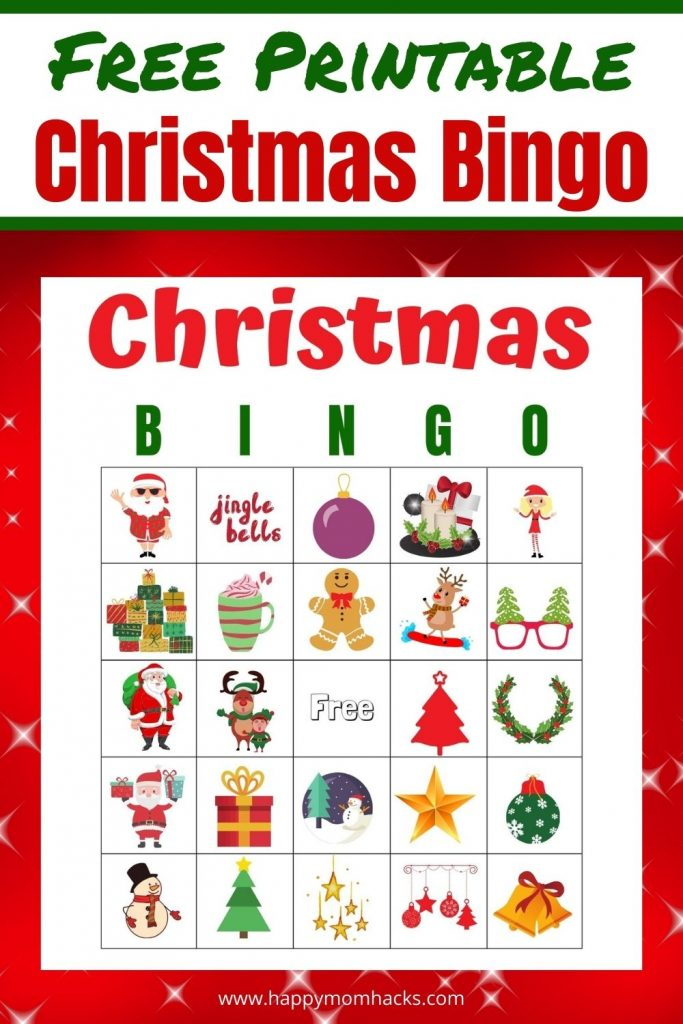 Kids will love this fun FREE Printable Christmas Bingo Game. Just download the Holiday bingo cards and use them at school parties or Christmas parties with families. An easy holiday party game both kids and adults will enjoy playing.