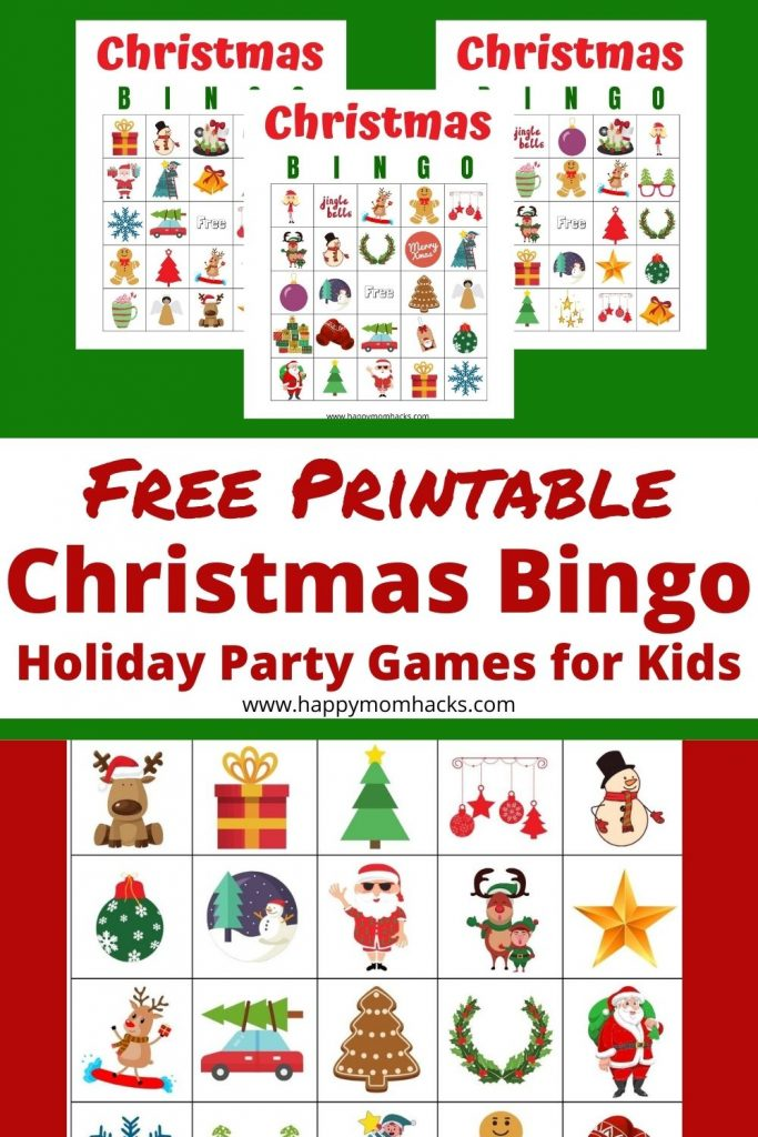 Fun Christmas Bingo Games for Kids. Use this Free Printable Bingo Cards to play at your upcoming school party or Family Christmas party. A simple party game both kids and adults will have fun playing together.