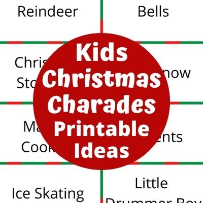 Hilarious Christmas Charades Ideas & Free Printable Word Lists for Family Holiday Parties. Kids & adults will love playing this Christmas games made easy with free printable Holiday word list. Just print it out and your ready to Play!