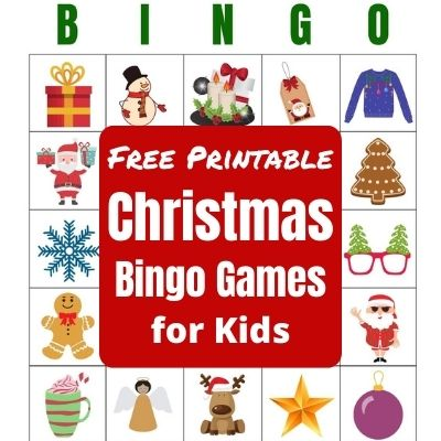 Grab Your Free Printable Christmas Bingo Games for Kids Parties. Fun party game for kids classroom parties and family Holiday parties.