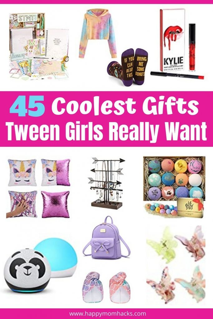 45 Tween Girl Gifts even the pickiest Tween Girl will love for Birthdays and Christmas. Stop stressing about gift ideas for girls age 9-12 years old & find the perfect gift on this tween girl gift guide. Everything from clothes & purses to electronics, spa days and Stem ideas. Check it out and be ready for upcoming Birthdays & Christmas.