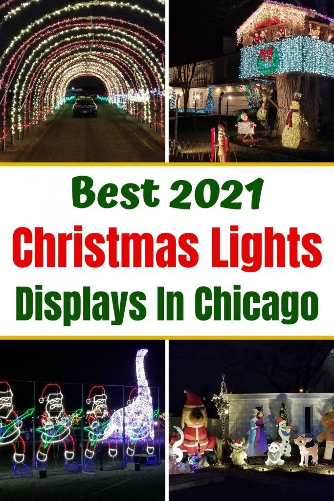 Your Guide to the best Chicago Christmas Light Displays for 2021. Learn where to find drive thru light displays, Zoo Lights, Museum Holiday lights, cool local neighborhood lights and more. Plus a free printable Lights Scavenger Hunt to entertain the kids. Check it out and plan which holiday light displays to visit this year with your family.