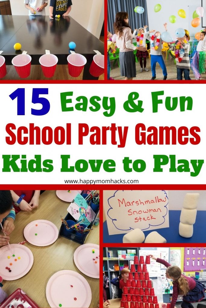 Best Classroom Party Games for Elementary School Kids at Halloween, Christmas, Valentine's Day & End of the Year parties. Quick & fun party game ideas both kid and teachers will enjoy. So stop stressing about throwing a school party and try these easy games everyone will enjoy.